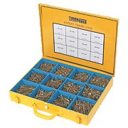 TurboGold Woodscrews Expert Trade Case Double-Self-Countersunk 2800Pcs