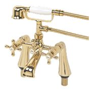 Swirl Traditional Gold Bath Shower Mixer Tap