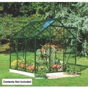 Halls Popular Greenhouse Green Toughened Glass 6 x 6 x