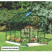 Halls Popular Greenhouse Green Toughened Glass 6 x 6