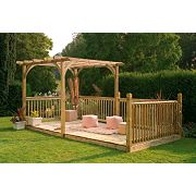 Larchlap Ultima Pergola & Patio Deck Kit 2.4 x 4.8 x 2.4m