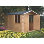 Shire Shiplap Apex Shed 10' x 7' (Nominal)