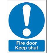 """""""Fire Door Keep Shut"""" Sign 120 x 90mm"""