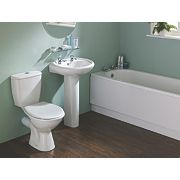 Unbranded Grove Contemporary Single Ended Bathroom Suite with Steel Bath