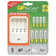 GP Batteries ReCyko+ Battery Charger & Pack of 12 Batteries