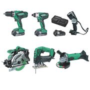 Hitachi KTL618SJ/JF 18V 2.5Ah Li-lon Cordless 6 Piece Kit