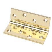 Eclipse Double Steel Washered Hinge Grade 11 Polished Brass 76 x 102mm Pk2