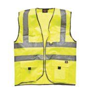 Dickies Hi-Vis Waistcoat Saturn Yellow Extra Large 50