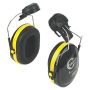 JSP InterGP Safety Helmet Mounted Ear Defenders 26dB Black/Yellow