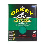Oakey Liberty Green Extreme Sandpaper Coarse Pack of 8