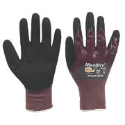 ATG MaxiDry ¾ Dipped Gloves Purple Large