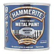 Hammerite Smooth Metal Paint Silver 250ml