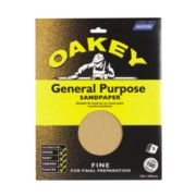 Oakey General Purpose Glass Paper Fine Pack of 5