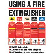 """Using A Fire Extinguisher"" Safety Poster 600 x 420mm"
