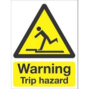 """Warning Trip Hazard"" Sign 200 x 150mm"