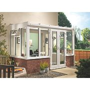 T1 Traditional uPVC Conservatory White 2.35 x 1.26 x 2.31m