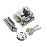 Yale 706 Traditional Night Latch Chrome Plated 40mm Backset