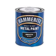 Hammerite Smooth Metal Paint Black 750ml