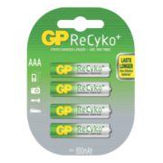GP Batteries ReCyko+ Rechargeable Batteries AAA Pack of 4