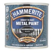 Hammerite Hammered Metal Paint Black 250ml