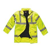 "Dickies Hi-Vis Motorway Jacket Saturn Yellow XXX Large 58"" Chest"