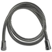 Swirl Shower Hose Flexible Chrome & Black 11mm x 1.5m