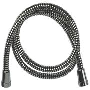 Swirl Shower Hose Flexible Chrome & Black 16mm x 1.5m