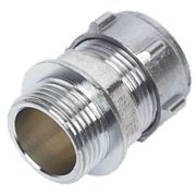 Conex Chrome Compression Male Connector 22mm x ¾""