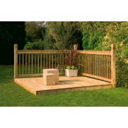 Larchlap Patio Decking Kit Base & Balustrade 2.4 x 2.4 x 1.4m