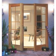 Jeld-Wen Rio 10 Lite French Door Set Oak 1790 x 2090mm