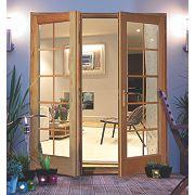 Jeld-Wen Rio 10 Lite French Door Set Oak 1790 x 2090mm