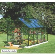 Halls Popular Framed Greenhouse Green 5' 10 x 9' 10 x 6' 6