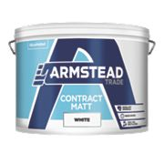Armstead Trade Contract Matt Paint White 10Ltr