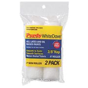 "Purdy White Dove Mini Paint Roller Sleeves Woven Draylon Pile 4"" x ¾"" Pk2"