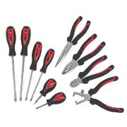 Forge Steel Screwdriver & Pliers Set 10 Pieces