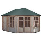 Shire Leygrove & Rowney Felt Roof Log Cabin 3 x 4.3m