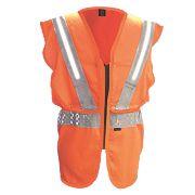 """Fhoss Contego Illuminated Hi-Vis Vest Orange Large / X Large 46-50"""" Chest"""