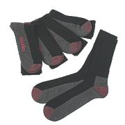 Dickies Cushion Crew Socks 5 Pairs Black Size 7-11 Black Size 7-11