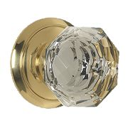 Carlisle Brass Glass Mortice Knob Pack Polished Brass 60mm