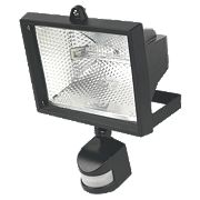 Floodlight PIR 400W Black 8545Lm