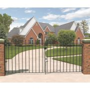 Metpost Wenlock Double Gate Black 975 x 900mm