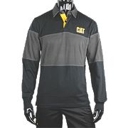 "CAT Rugby Shirt Black/Grey X Large 46-48"" Chest"