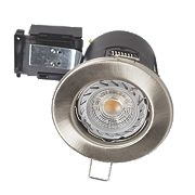Robus 30, 60 & 90min Fire Rated Fixed Downlight IP20 Brushed Chrome W