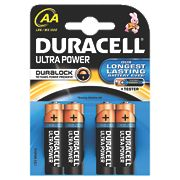 Duracell AA 1.5V Alkaline Batteries Pack of 4