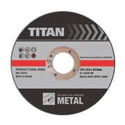 Titan Metal Grinding Discs 115 x 6 x 22.2mm Bore Pack of 3