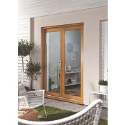 Jeld-Wen Double-Glazed French Doors Oak Veneer 1800 x 2100mm