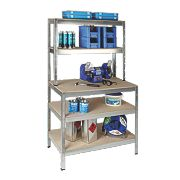 RB UK Boltless Freestanding Workbench & Shelving 1000 x 600 x 1800mm