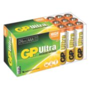 GP Batteries Ultra Alkaline Batteries AAA Pack of 24