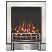 Focal Point Soho Chrome Rotary Control Gas Inset Full Depth Fire