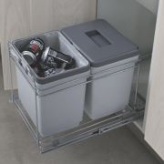 Hafele Pull-Out Waste Bin System Grey Ltr